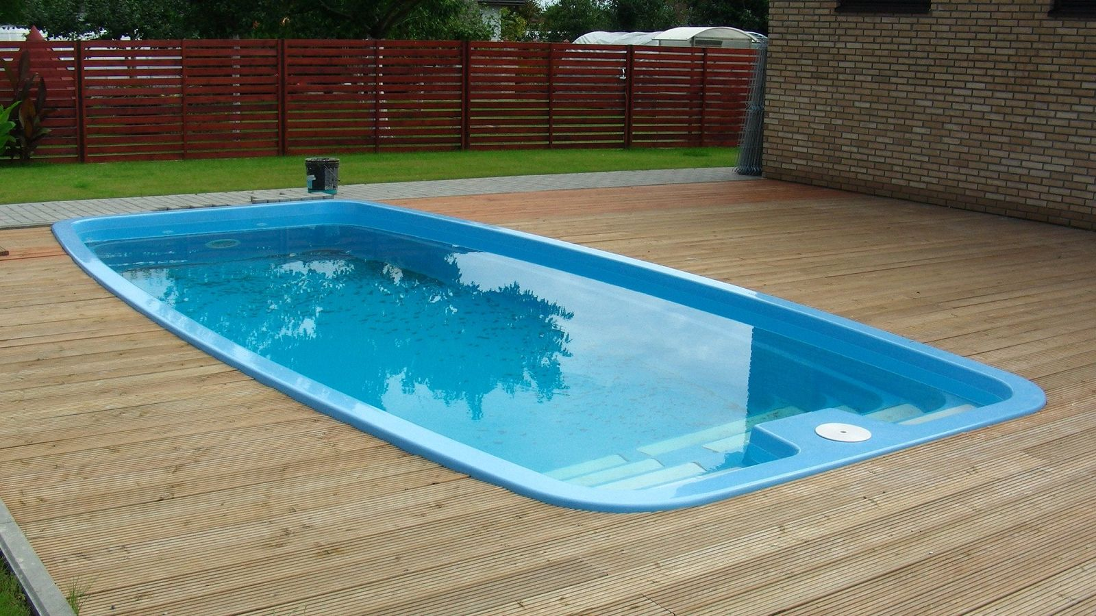 for One piece inground swimming pool